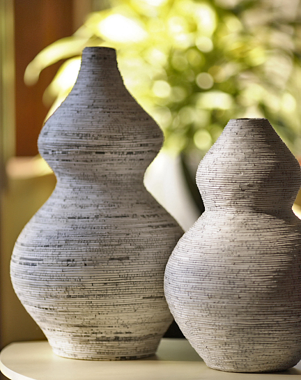 Large Gazette Recycled Paper Vase