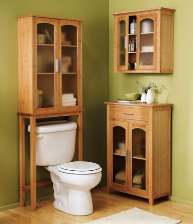 Bamboo bathroom spacesaver collection for Bamboo bathroom design