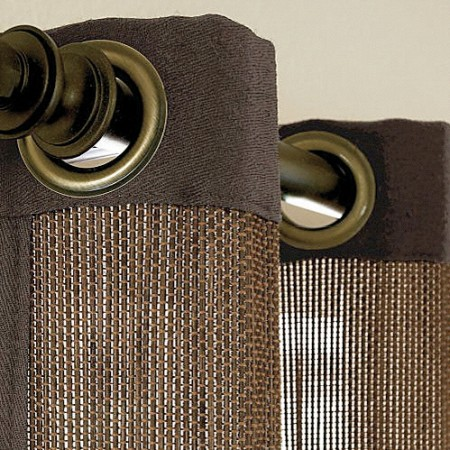 Kennedy Bamboo Grommet Top Panels Detail