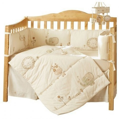 Sleep Fit for a Newborn: Sleepy Safari Crib Bedding — Your guide to stylish, eco-friendly decor! from greenyourdecor.com