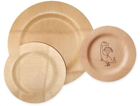 Kid-Friendly Mealtime: Bambu Veneerware Plates  Your guide to stylish, eco-friendly decor! :  biodegradable bambu compostable plates