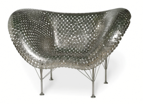 Made of Money: The Half Dollar Butterfly Chair — Your guide to stylish, eco-friendly decor! :  furniture green decorating chair money