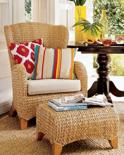 Natural Throne: Seagrass Wingback Chair