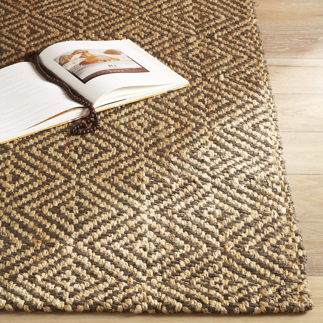 Jute Diamond Rug By West Elm   Detail