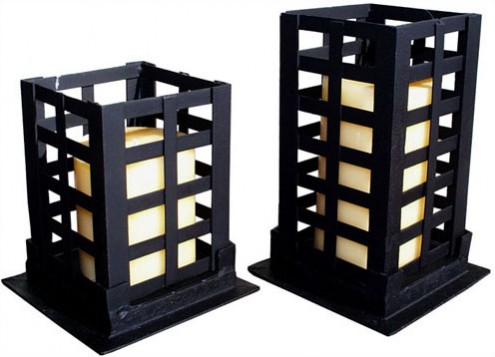   Grid Glory: Square Pillar Candleholder  Your guide to stylish, eco-friendly decor! :  decorating accessories eco-friendly wrought iron