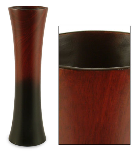Delicious Then & Now: Dark to Light Mango Wood Vase — Your guide to stylish, eco-friendly decor!