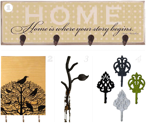 Stylish Hooks get the hook up: stylish places to hang your keys