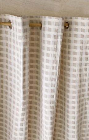 Shower Curtains cotton shower curtains : Vinyl, No More: Birch Fabric Shower Curtain