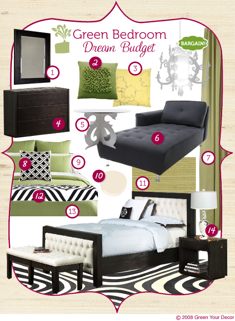 Green Rooms in a Box series: Vibrant, Luxurious Bedroom on a Dream Budget