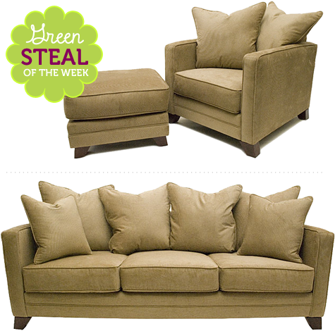 Green Steal of the Week: Fawn Organic Cotton Sofa and Chair  Your guide to stylish, eco-friendly decor! :  furniture green decorating eco-friendly green