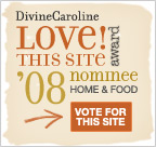 Vote for Green Your Decor in Divine Caroline\'s Love This Site awards!