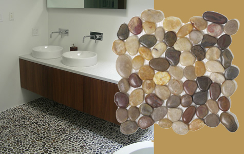 ModRocks Natural Pebble Mosaic Tile