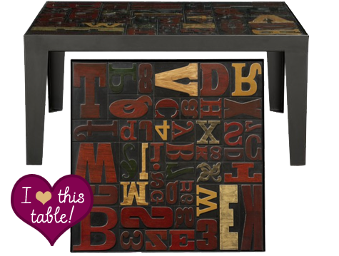 next time, won't you sing with me: alpha coffee table