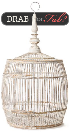 Drab or Fab? Bamboo Barrel Birdcage