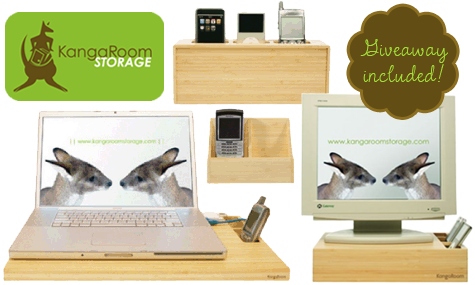 Bamboo Desktop Accessories by Kangaroom Storage
