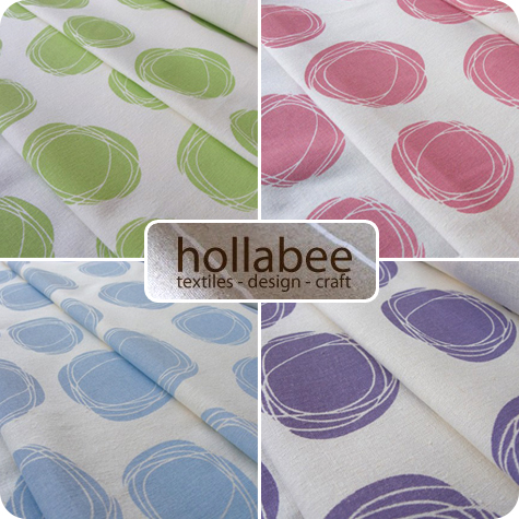 Organic Cotton Hemp Blend Swirl Fabric by Hollabee