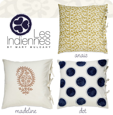 Organic Deco Pillows from Les Indiennes