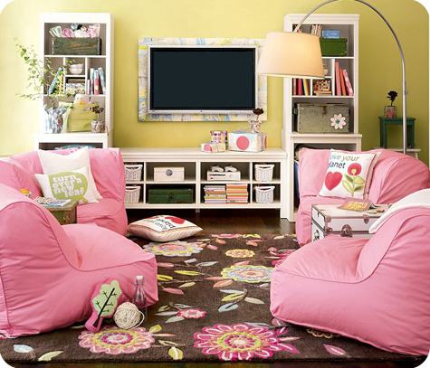 A soft place to land organic b bag sectional from pbteen for Teenage playroom design ideas