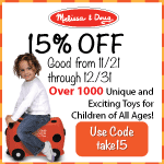 15% off at Melissa & Doug
