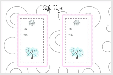Gift Tag template - download PDF