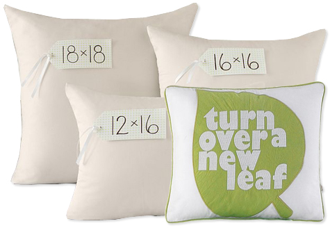 Eco-Friendly Pillow Inserts from PB Teen
