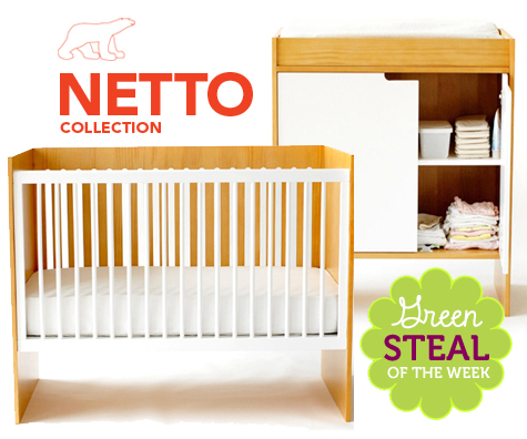 Netto Collection CUB Crib and Changing Table (eco-friendly)