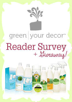 Green Your Decor Reader Survey + giveaway!