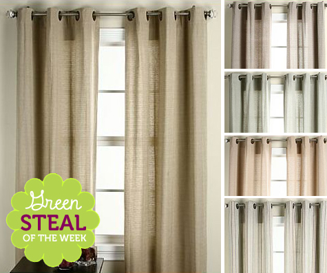 Green Steal of the Week: Set of Organic Cotton Grommet-Top Curtain Panels