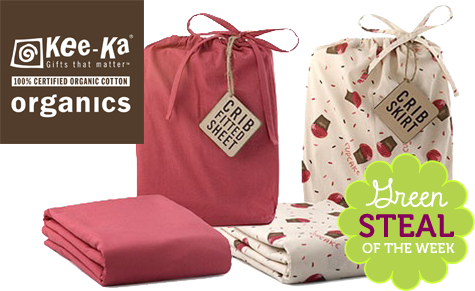 Green Steals of the Week: Kee-Ka Organic Crib Sheet & Skirt
