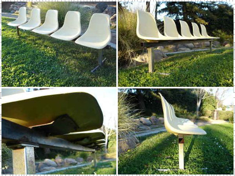 Vintage Tandem Eames-Style Chairs - Used