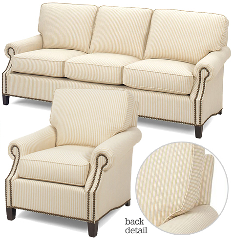 Zipper Stripe Biscuit Sofa