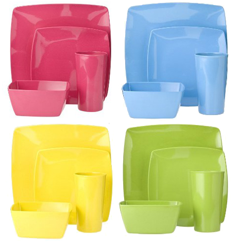Color Me Hungry: Eco-Friendly Square Dinnerware Collection Thumbnail