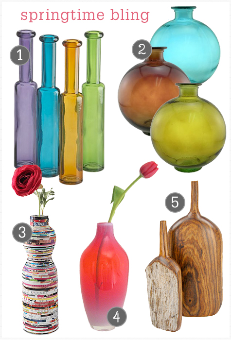 Easy Spring Makeover: Add Inexpensive, Colorful Vases & Flowers Thumbnail