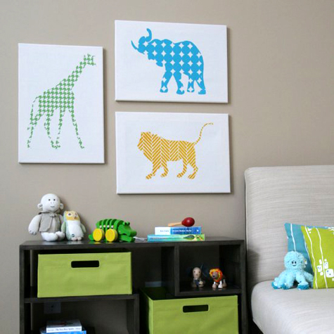 silhouettes of animals. These cute animal silhouettes