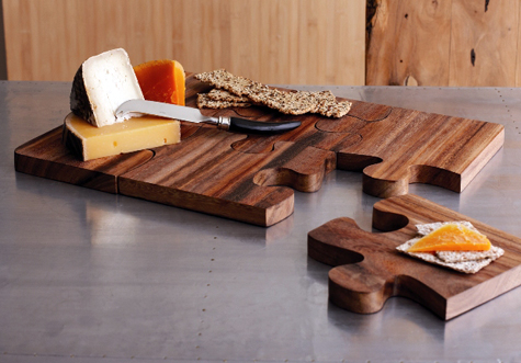 Going to Pieces: Puzzle Pieces Serving Board Thumbnail