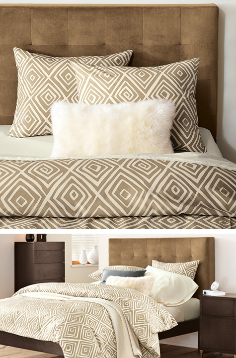 Subtle Tribal Influence Organic Village Diamond Bedding