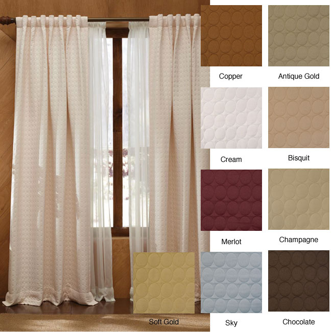 Circle Pattern Tailored Bedroom Drape Lined Curtains - DinoDirect.com