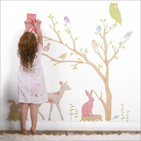 Stuck-on Style: Mae Fabric Wall Stickers Thumbnail