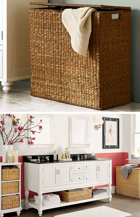 Air Your Dirty Laundry: Savannah Divided Seagrass Hamper Thumbnail
