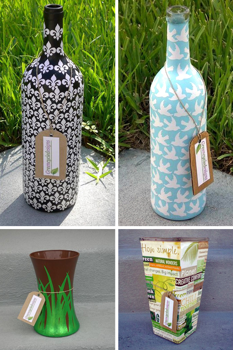 More than Just a Bottle: GreenCycleDesigns Upcycled Vases Thumbnail