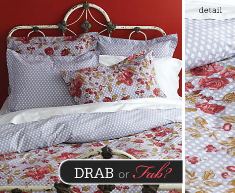 Drab or Fab? Organic Cotton Dots & Roses Bedding Thumbnail