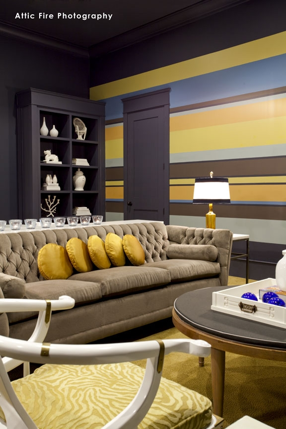 Friday Room Reveal: Vintage Glam Media Room by Laurie White Thumbnail