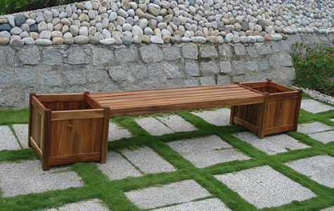 flower box bench