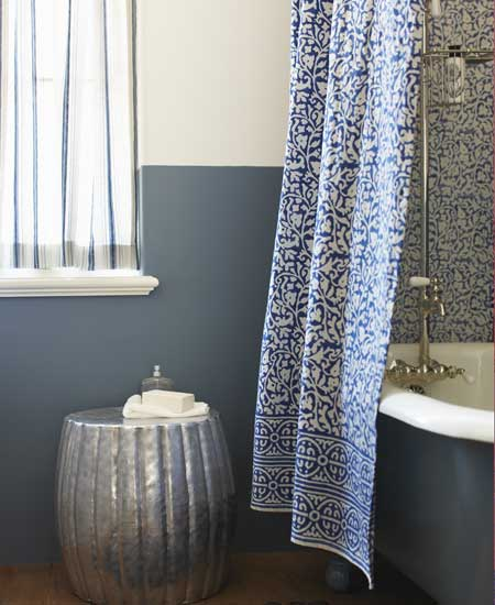 I've Got the Blues: Indigo Shower Curtain from Viva Terra Thumbnail