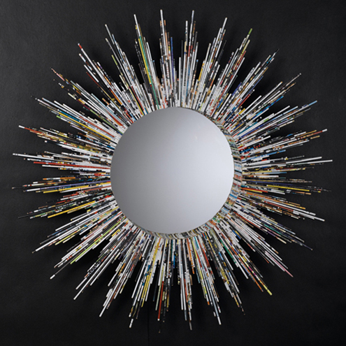 Large & Lovely: Recycled Magazines Wall Mirror Thumbnail