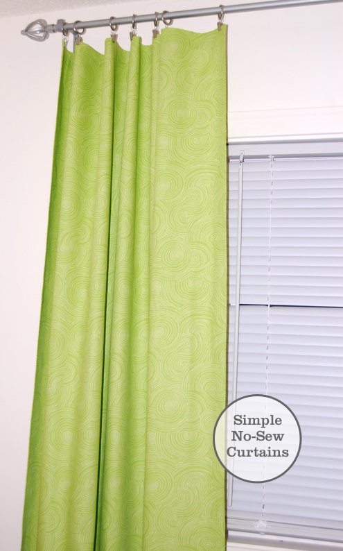 Post image for Pull Out Your Irons: Simple No-Sew Curtain Panels