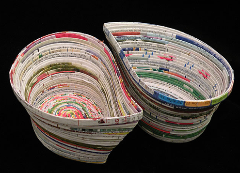 Newspaper ads quilling on pinterest old magazines for Cool recycled stuff