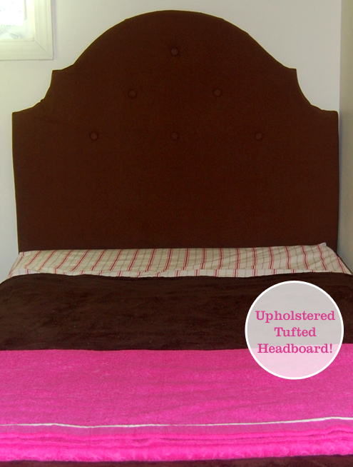 Post image for Boudoir Glam: Upholstered, Tufted Headboard Tutorial