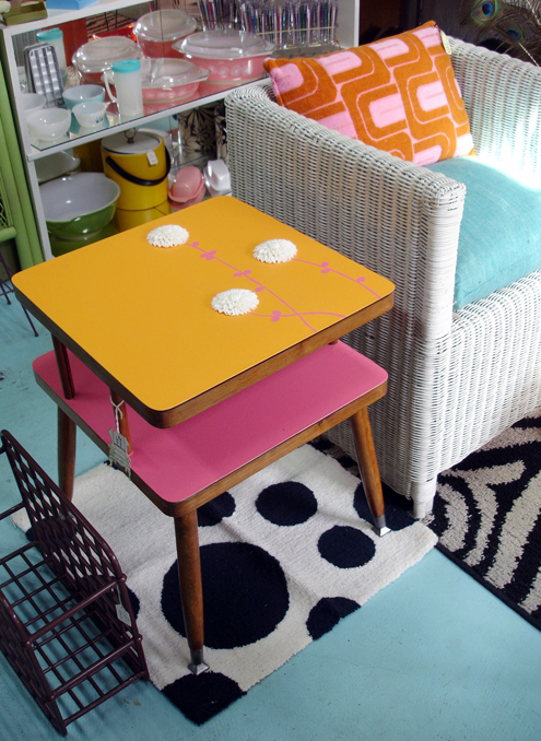 Creamsicle, Anyone? 'Tangerine Dream' Mid-Century Side Table Thumbnail
