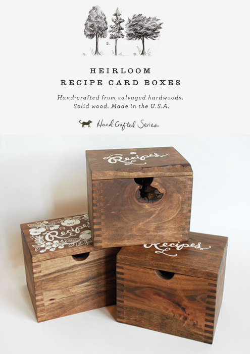 Something to Keep Forever: Heirloom Recipe Card Box Thumbnail